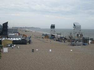 The set for Grimes on the Beach